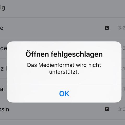 Öffnen fehlgeschlagen - (Musik, iPhone, Apple)