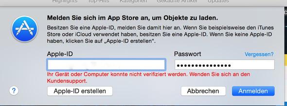 Dieser Satz taucht immer auf. - (Apple, Macbook, App Store)