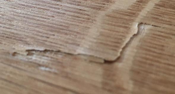 arbeitsplatte aufgeplatzt was tun holz schreiner