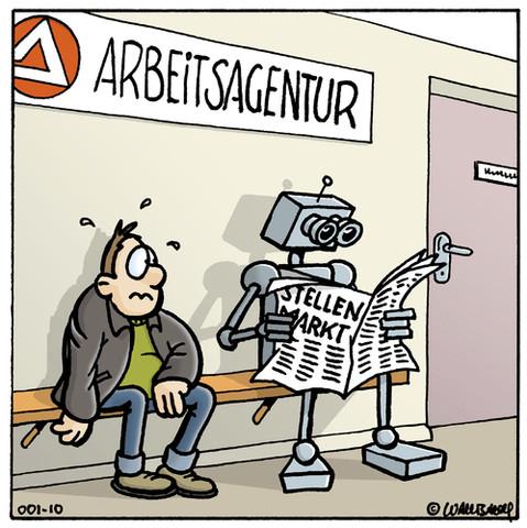 arbeitsuchend vs. Technologien - (Arbeit, Technologie, Zukunft)