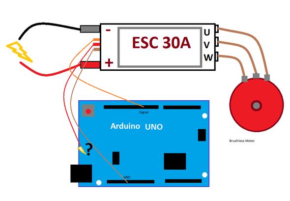 Stromversorgung Arduino über ESC für Brushless-Motor-Steuerung - (Computer, Technik, Technologie)