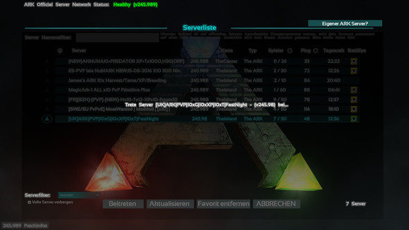 Meldung2 - (Server, ARK Survival Evolved, Ladebildschirm)