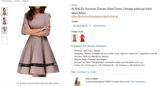 Amazon enge kleider
