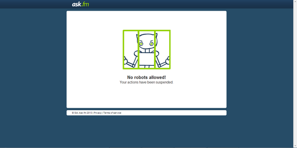 Das sehe ich seit heute morgen, wenn ich auf ask.fm zugreifen möchte. - (Internet, Fehler, ask.fm)