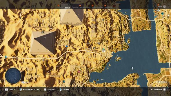 Assassins Creed Origins, wie komme ich an diesen Ort in Gizeh??