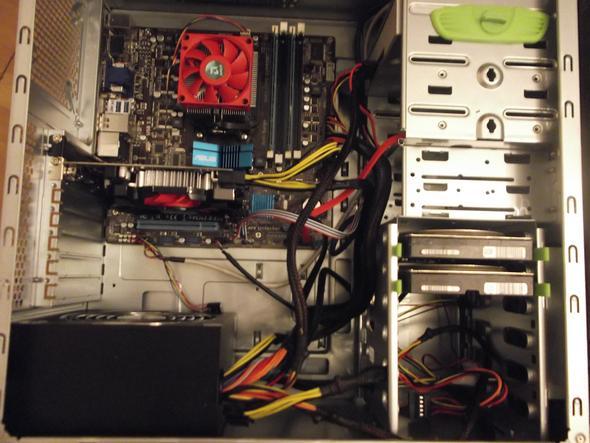 komplettansicht wie es jetzt ist - (Computer, PC, Mainboard)