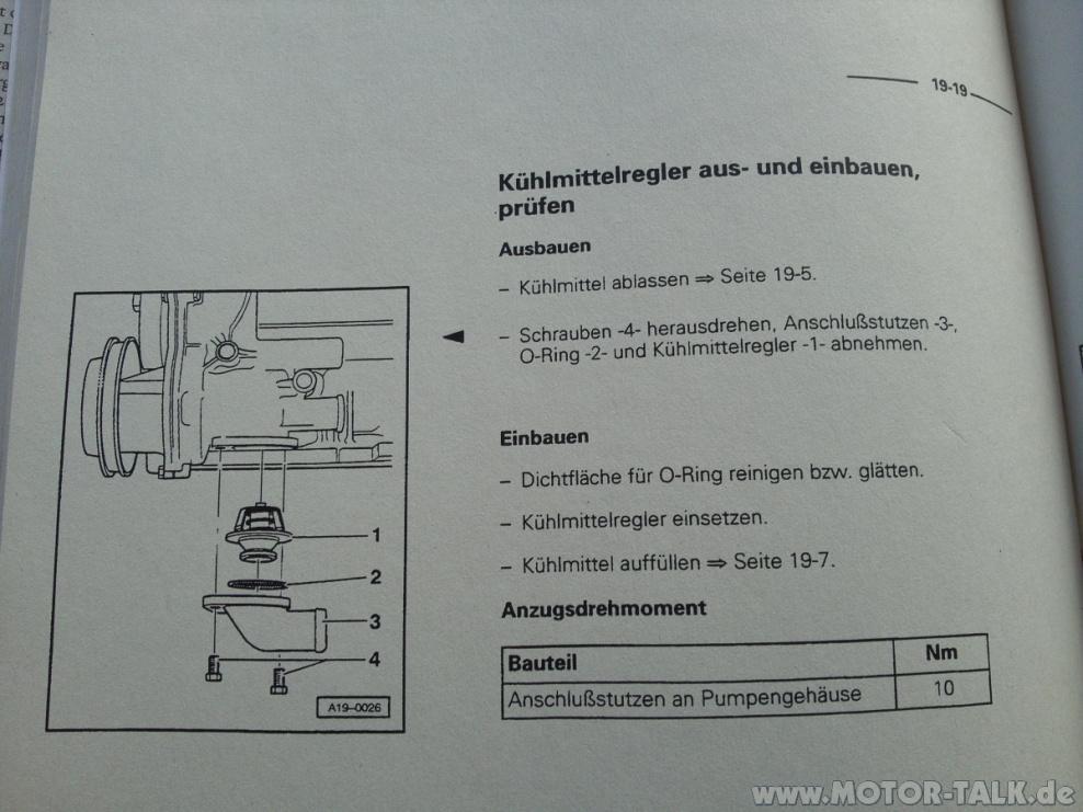 Audi 1.8t AEB Thermostatwechsel (Auto, Thermostat)