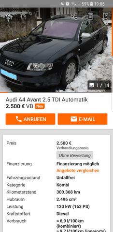 Audi A4 als Anfangswagen?