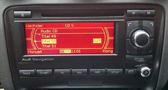 Radio - (Bluetooth, Audi, aux)