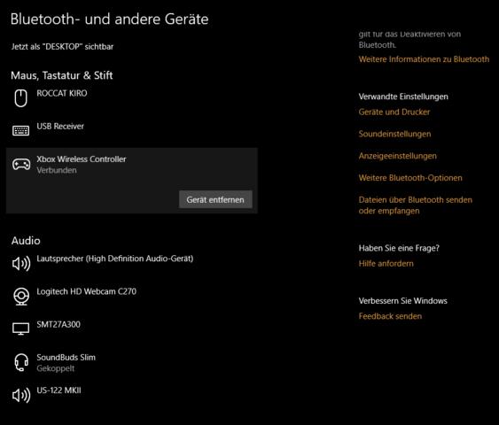 - (Windows 10, XBOX ONE, XBOX Controller)