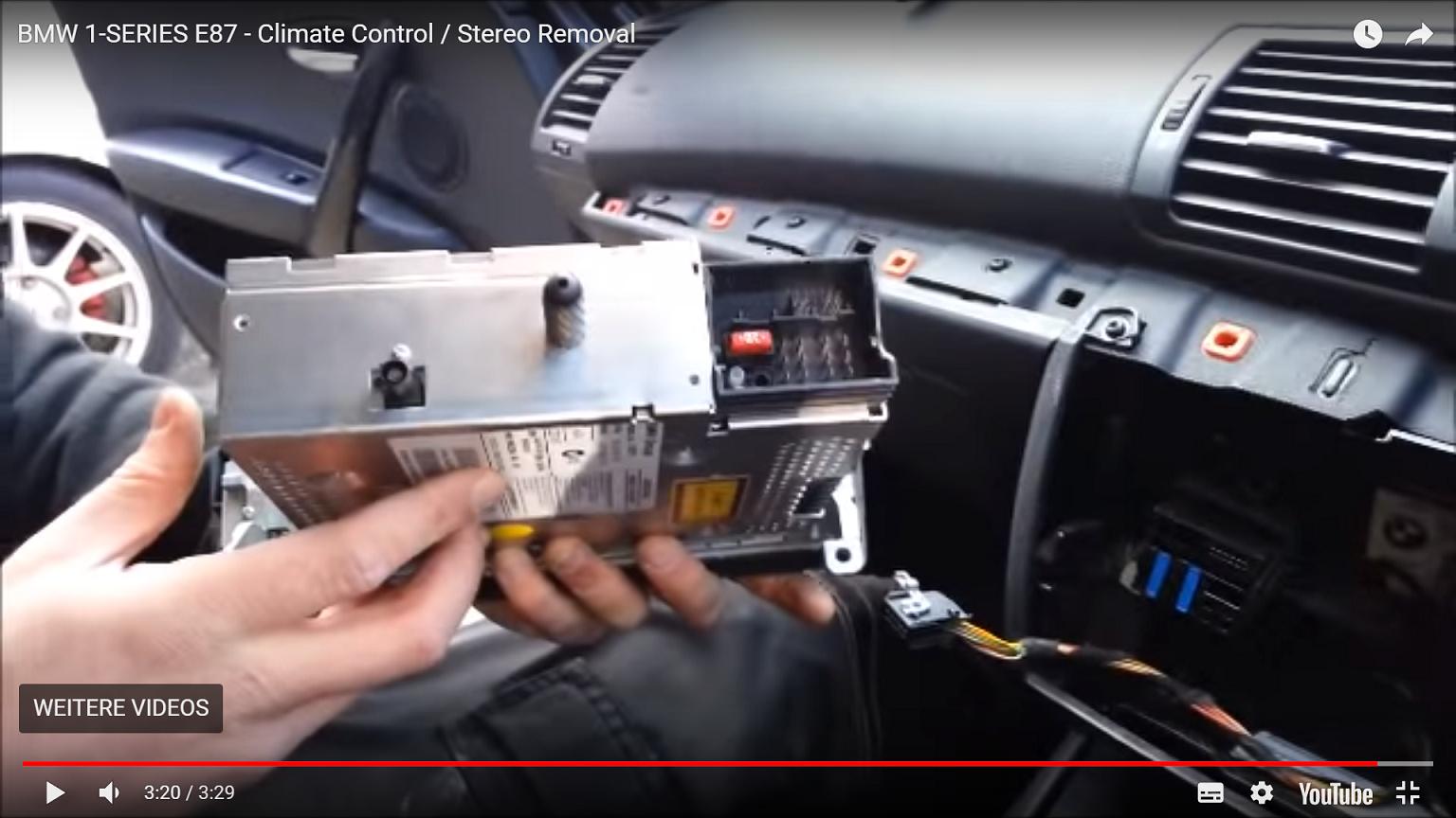 Audiokabel für Verstärker an modernes Auto Radio anschließen - BMW ...