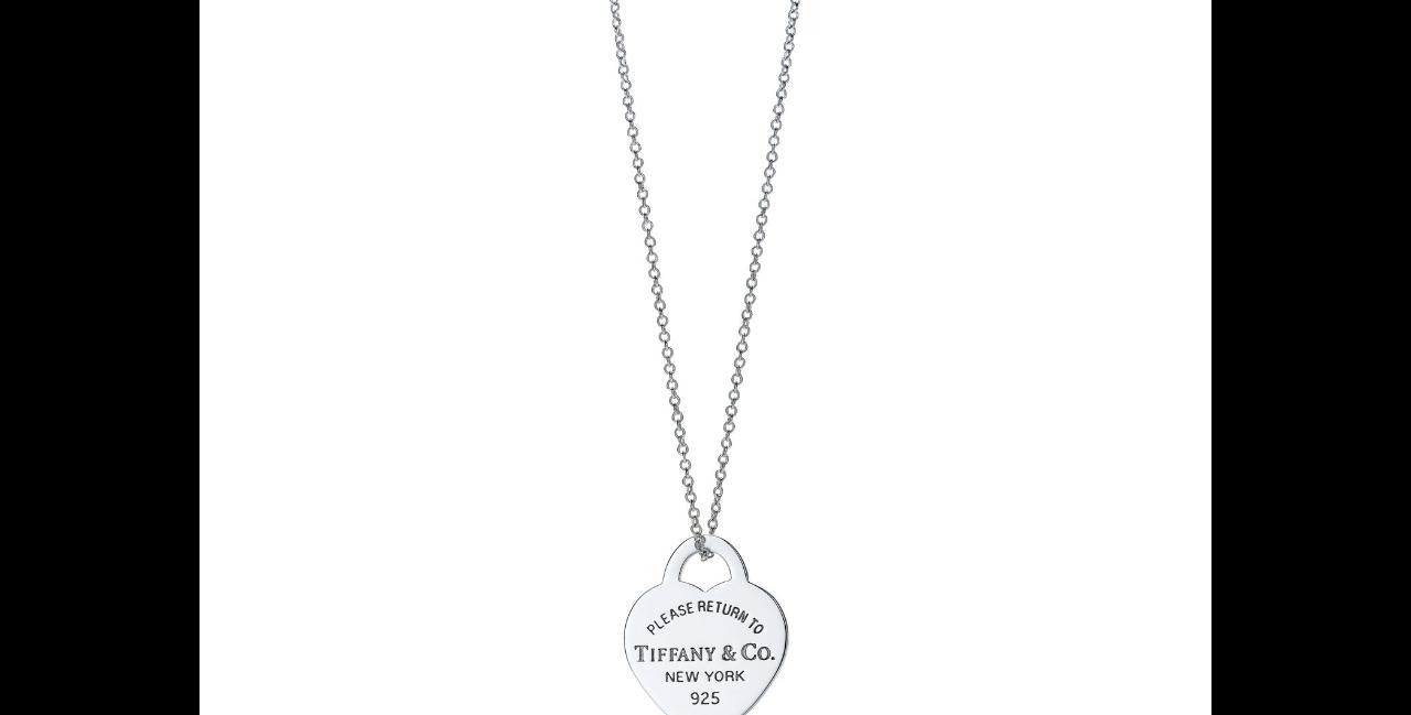 Tiffany halskette silber