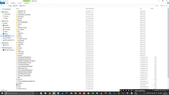 Die versteckten Ordner sind hier deutlich zu sehen! - (PC, löschen, Windows 10)