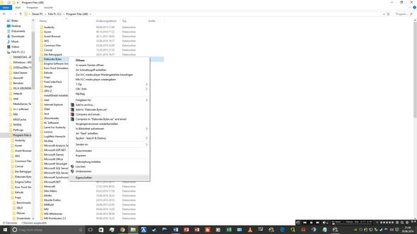 Es passiert rein gar nichts, wenn ich rechtsklicke->Eigenschaften! - (PC, löschen, Windows 10)