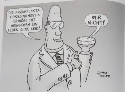 Auf welche Problematik weist die Karikatur hin?