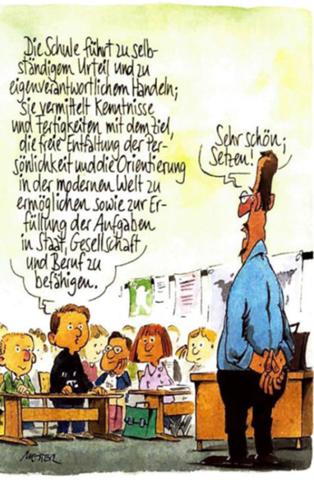 - (Schule, Politik, Gesellschaft)