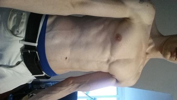 Brust- und Armmuskeln. Sixpack in Arbeit :) - (Training, Muskeln, Sexualitaet)