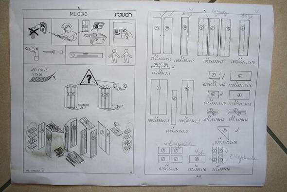 Aufbauanleitung Eckschrank?! (bauen, Möbel, Handwerk)