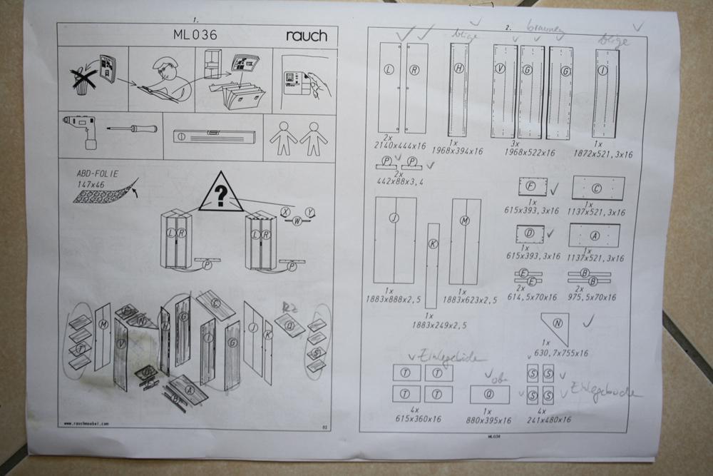 aufbauanleitung eckschrank bauen m bel handwerk. Black Bedroom Furniture Sets. Home Design Ideas