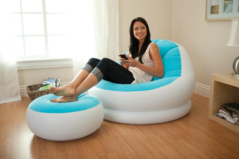 Aufblasbarer Sessel Verliert Luft Wohnen Besuch Aufblasbar