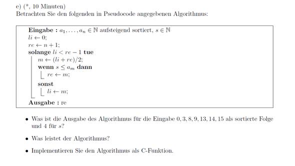 Aufgabe - (Mathematik, programmieren, Informatik)