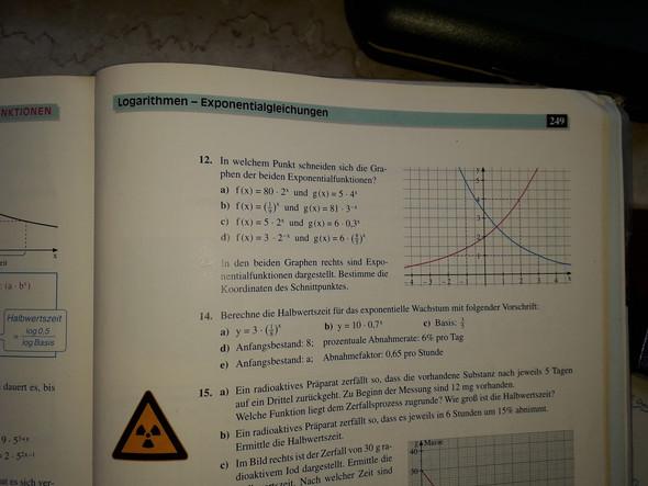 Aufgabe mit Graphen und Exponentialfunktionen?