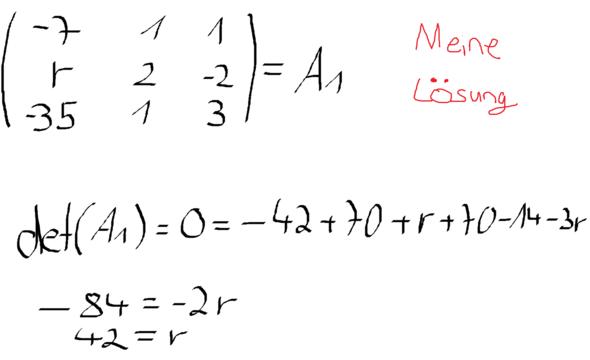 meine lösung - (Mathe, Mathematik)