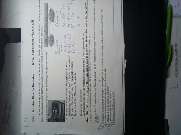 Aufgabe 3 - (Mathe, lineare funktionen)