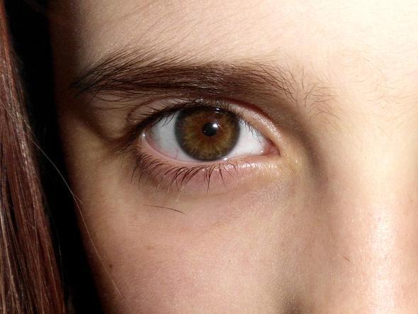 ...hoffentlich kann man das hier erkennen: Außen grün, innen braun.  - (Augen, braun, grün)