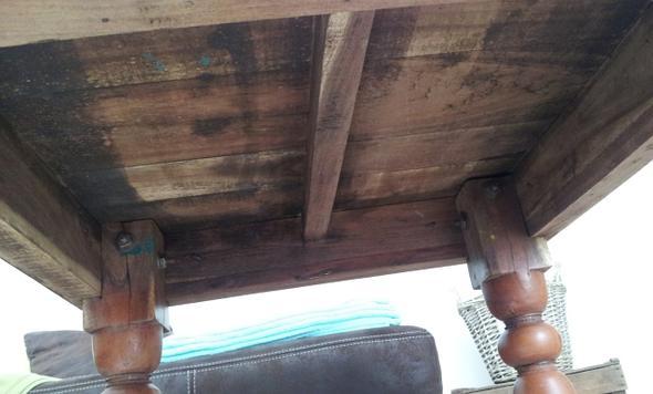 Tisch Unterseite - (Alter, Möbel, Holz)