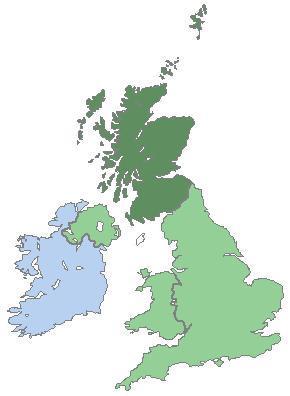 Schottland (Kaledonien) dunkelgrün - (Sprache, Geographie, Geografie)