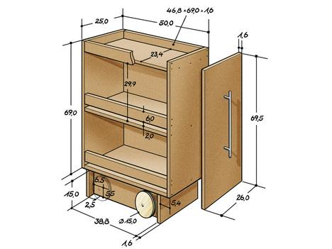 ausf hrliche bauanleitung f r kleinen rollschrank gesucht k che m bel heimwerken. Black Bedroom Furniture Sets. Home Design Ideas