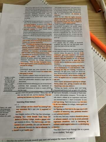 Auslandsjahr Englisch analysieren?