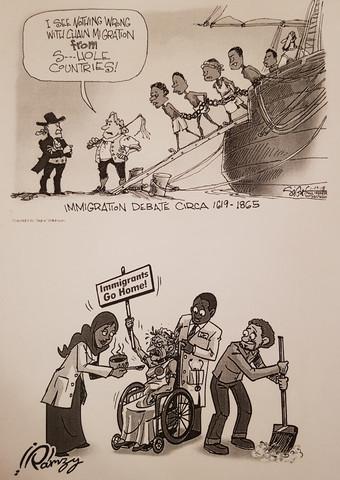 Aussage der beiden Karikaturen?