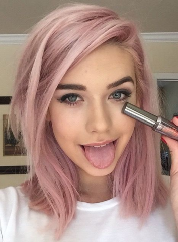 Auswaschbare Haarfarbe Pastel Pink Haare Haarfärbung