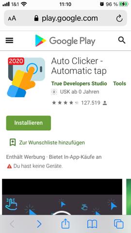 Auto clicker von Google (bzw. Android) auf ios?