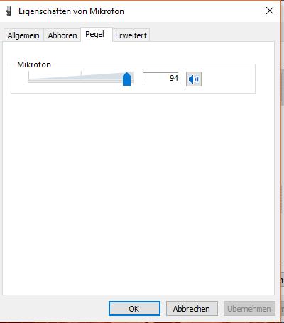 Einstellungen  - (Windows 10, Mikrofon, Mikrofon pegel)