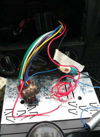 Autoradio-Netzkabel mit zwei roten Kabeln - (Batterie, Autoradio, einbauen)
