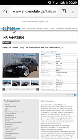 Autoscout24 Bzw Mobilede Inserat Nicht Gefunden Anzeige Bmw