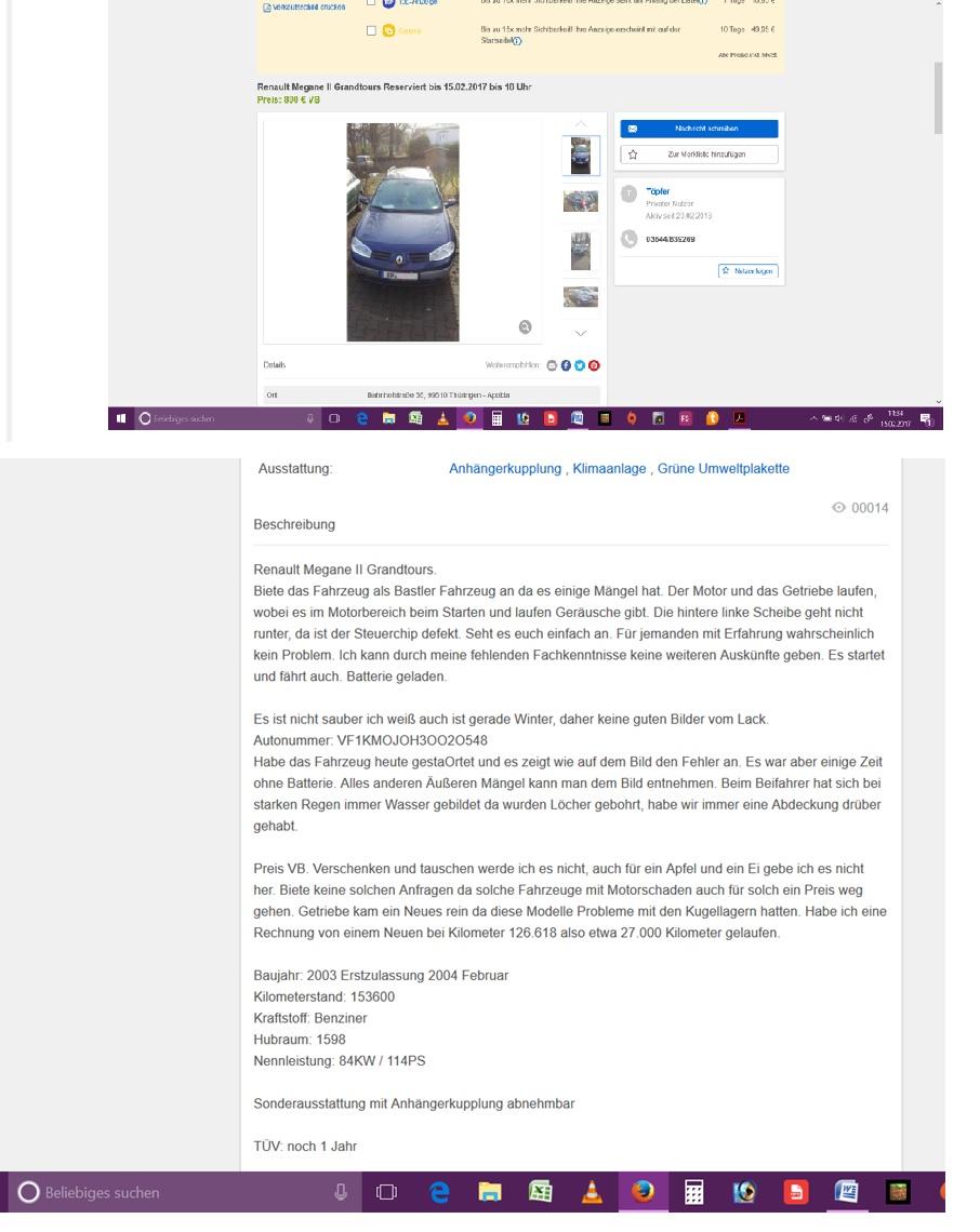 autoverkauf eines bastlerautos von privat an h ndler. Black Bedroom Furniture Sets. Home Design Ideas