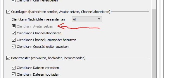 Avatare auf dem TS3-Server als Admin nicht mehr möglich?
