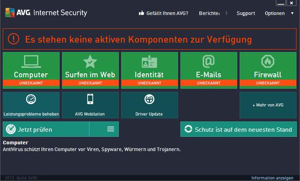 AVG oberfläche - (PC, Programm, Windows 7)
