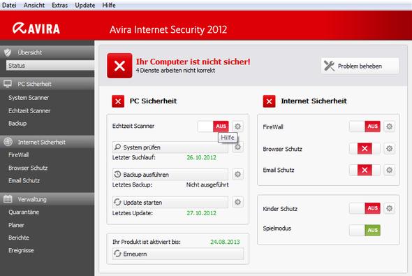 Screenshot - (Computer, Funktion, AntiVir)