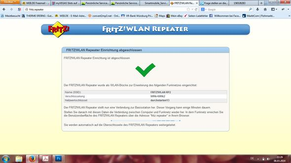 Screenshot - (Internet, WLAN, repeater)