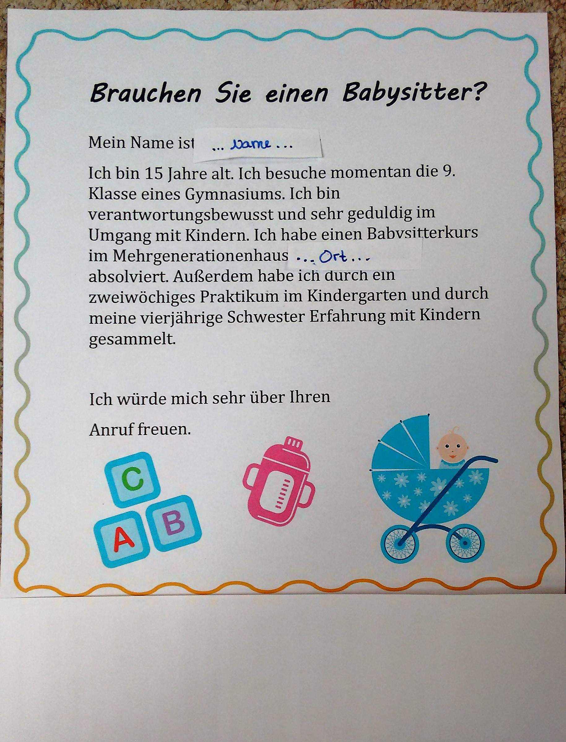 Babysitter aushang 50+ Fakten