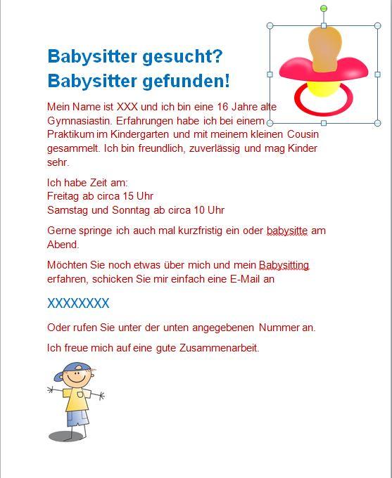 Babysitter Bewerbung Schreiben Twentetrailriding