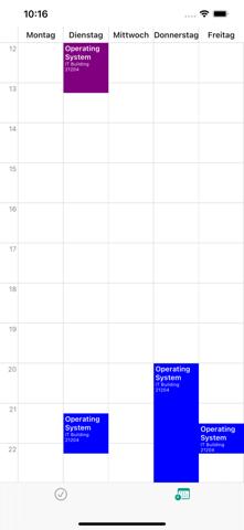 Backend Lösung für online Stundenplan (iOS/Xcode)?