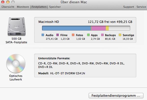 Screenshot - (Apple, Mac, Festplatte)