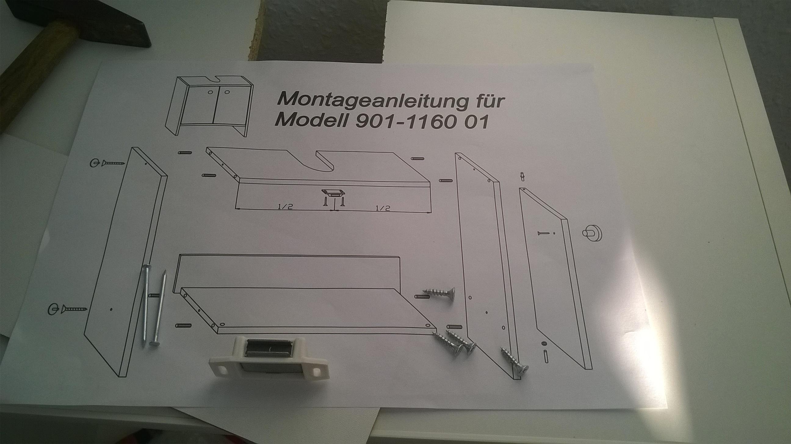 Badezimmer / Waschbeckenunterschrank Aufbauen? (Roller
