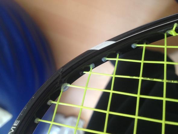 Riss von innen - (Sport, Reparatur, Badminton)